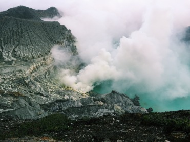 Sulfur clouds at Ijen